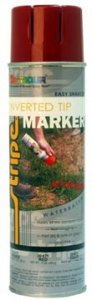 T93225 MUNICIPAL & UTILITY WATER-BASED INVERTED TIP MARKER PAINT - SAFETY RED T93225